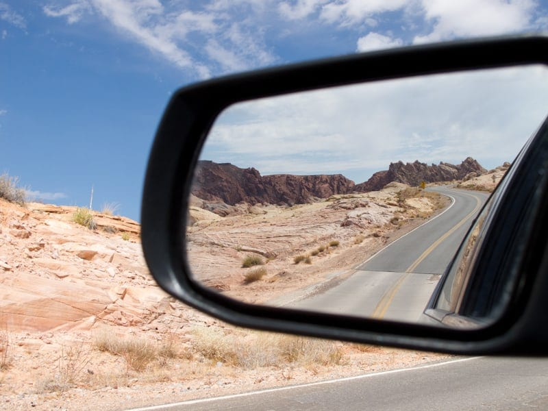 Valley of Fire State Park out my mirror