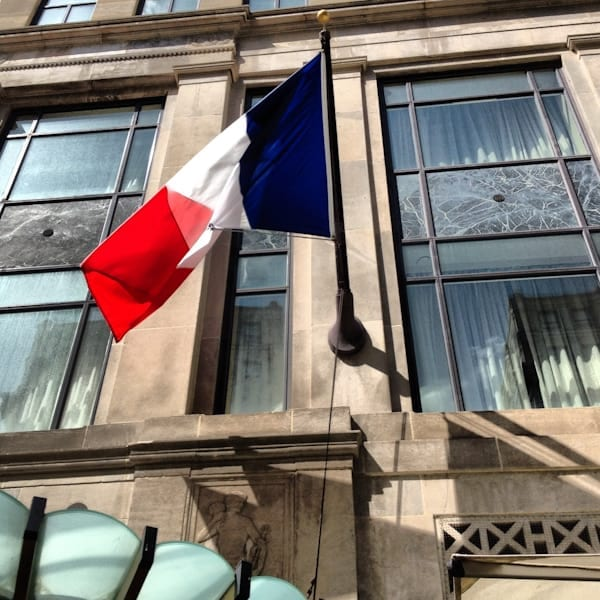 French flag over the Sofitel
