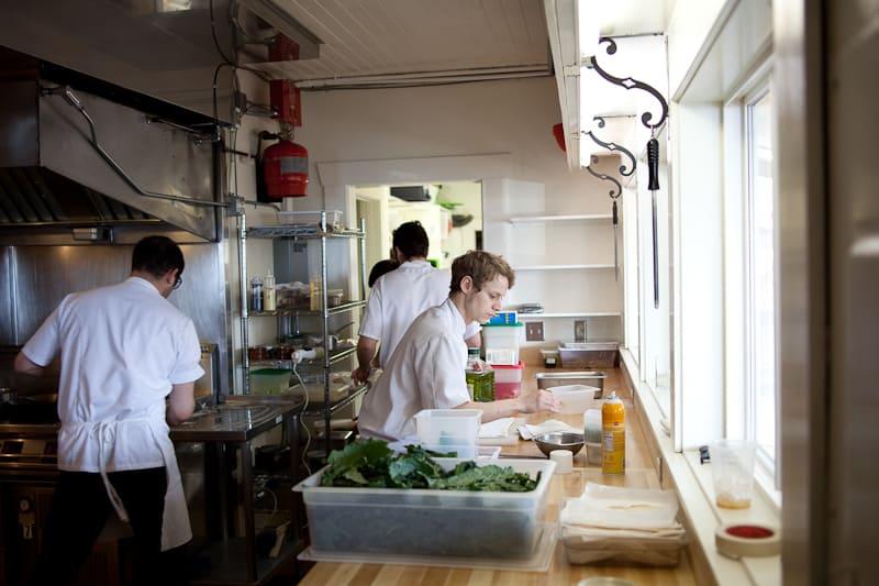 In the Willows Inn Kitchen
