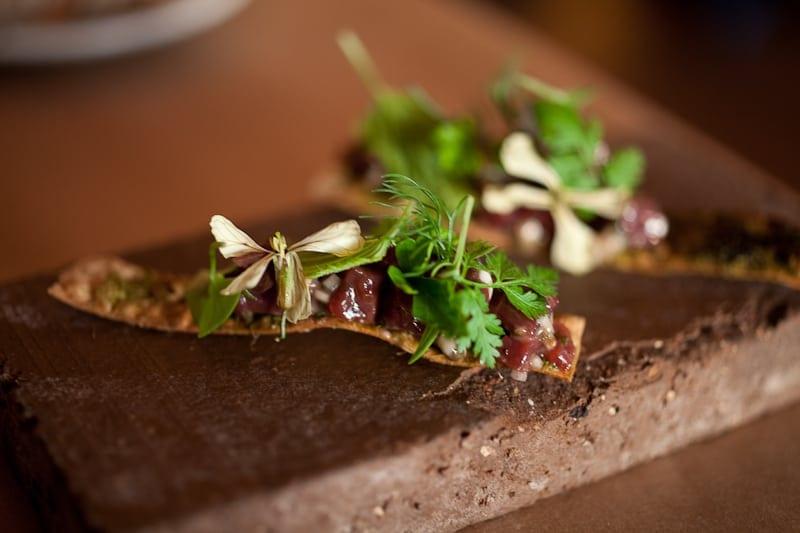 Venison tartare with wild herbs