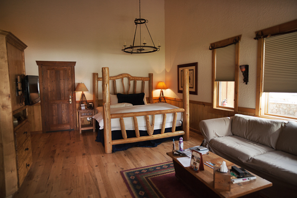 Part of our room at the Sorrel River Ranch