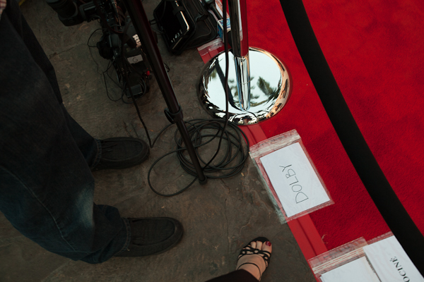 My spot on the Dexter red carpet and my great pedicure