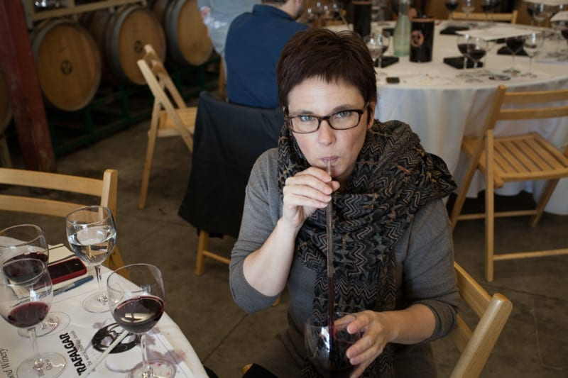 Wine blending at Ravenswood Winery