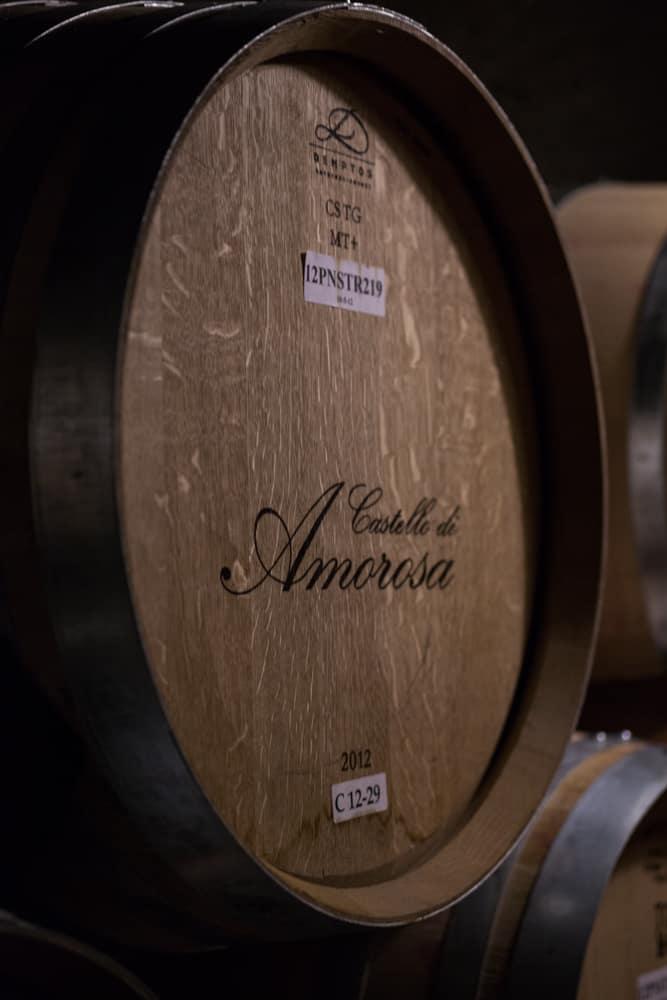 Castello di Amorosa Wine barrel