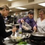 Making Dinner at Ramekins Culinary School