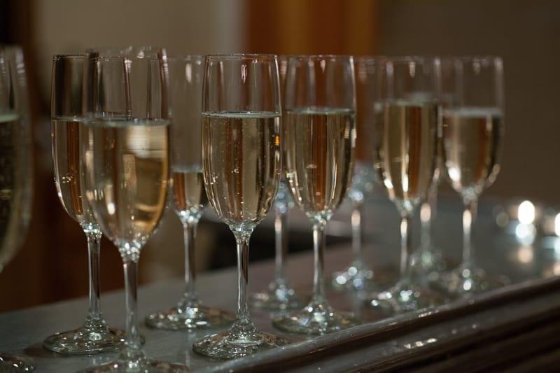 Champagne at Ramekins Culinary School