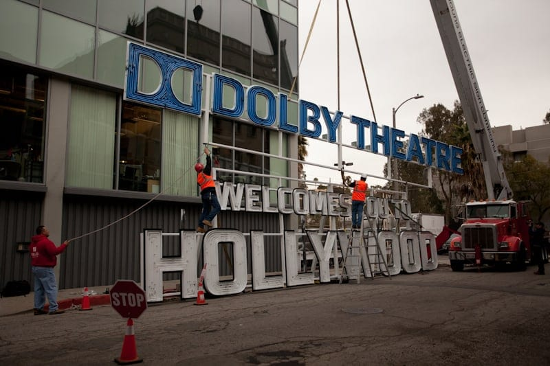 Dolby Theatre Sign in Place