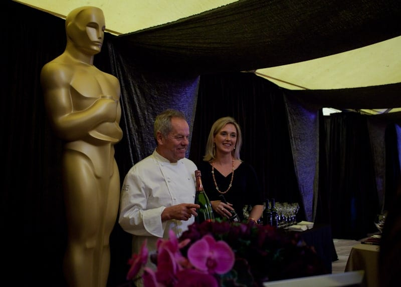Wolfgang Puck, a Sterling Wine rep and Oscar