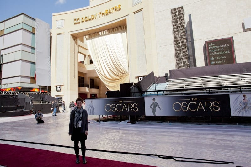 Andi on the red carpet
