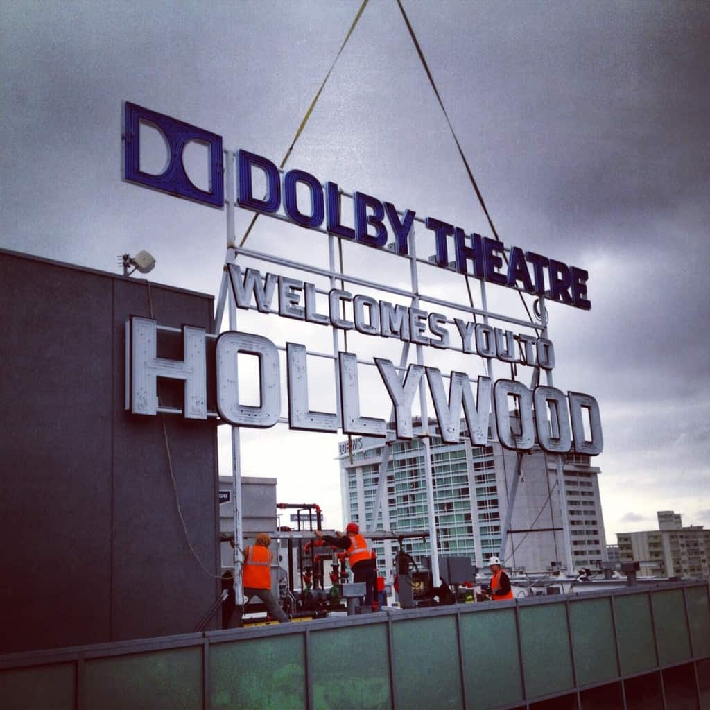 Dolby Theatre Sign Installed