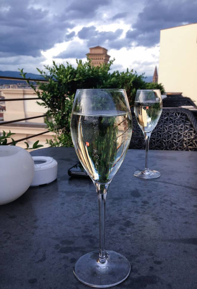 Westin Florence Rooftop Champagne