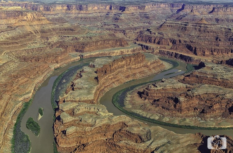 Canyonlands National Park Horseshoe Bend Aerial View