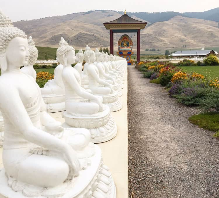 Five Things to Do on the Way to Glacier National Park garden of 1000 buddhas